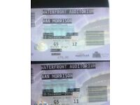 2 VAN MORRISON TICKETS ..WATERFRONT HALL BELFAST