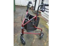 Tri wheel disability walker