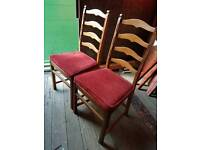 Set of 6 Ecrol ladder back chairs