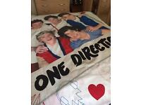 Duvet cover and pillow case.