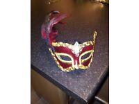 Mask - Red Gold Black