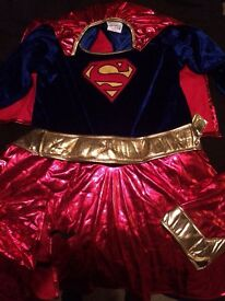 SUPERGIRL DRESSING UP OUTFIT LARGE (APPROX 8-10YRS)