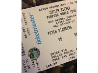 X4 Justin Bieber tickets Dublin £85 each will sell in pairs