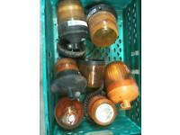 7 amber warning lights van , plant , lorry , tractor , trailer etc.