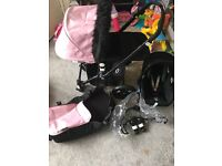 Bugaboo chameleon pram with accessories