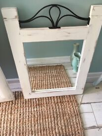 Upcycled mirror.
