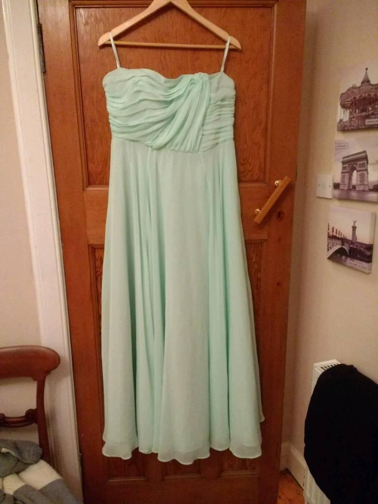 Apple green chiffon bridesmaids dresses