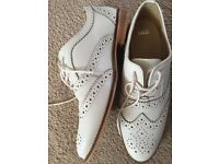 White Leather Brogues size 6