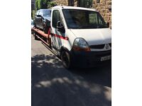 Renault master recovery truck 2008 08 reg rino winch 20 ft bed needs tlc