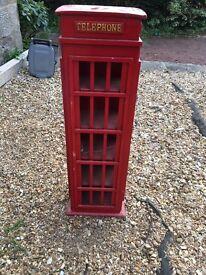 Wooden telephone shelved box