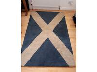 Rug - Scottish Saltire 100% wool rug