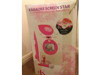 Karaoke machine with screen