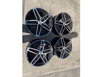 Set Of 4 AEZ 18 Inch Audi A3/S3/VW Golf Alloy Wheels 2005 Onwards RRP £1000