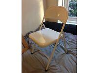 Argos white metal folding chair