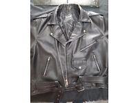 leather size 48 Marlon Brando style jacket