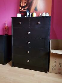George Home Drake Chest of 6 Drawers - Black