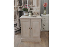 Lovely shabby chic solid pine cabinet