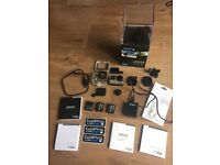 GoPro hero 4 black edition 4K action camera with spare batteries and charger 64gb of memory