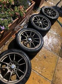 17 MOTEC MCR1 - alloys with tires 225/45/r17 multi sub fitting