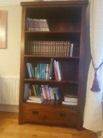 Solid dark wood bookcase for sale