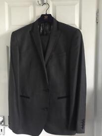 Next Men's Grey Suit - 42R - Slim Fit trousers