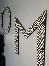 O M G zebra print wall hangers