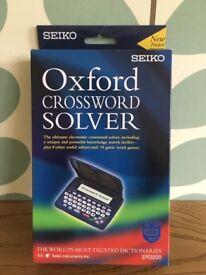 Seiko ER3200 Oxford Crossword Solver Pocket Edition Dictionary New