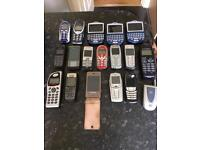 Job Lot Of 18 Mobile Phones. Blackberry, Nokia Etc.