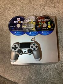 PlayStation 4 Silver Edition and games