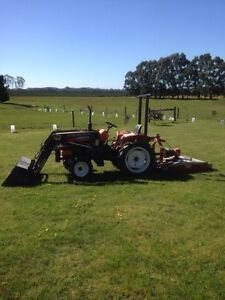 Kubota L1500  Tractor and slasher for sale Lal Lal Moorabool Area Preview