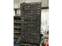 Heavy duty industrial steel draws Tool storage , approx 7ft tall 3ft wise