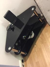 Corner Glass tv stand/shelving unit
