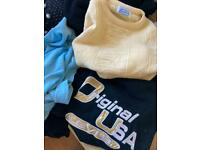 job lot 14 vintage jumpers and cardigans, 80s 90s wool peter pan levi's sweatshirt etc