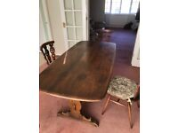 Ercol 1960's Dinning table and 4 x chairs.