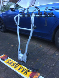 Tow bar bike rack (for 4 bikes) Thule HangOn and Lighting board