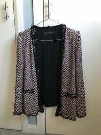 Zara Channel-style long jacket (size large/ approx 36 inch chest)