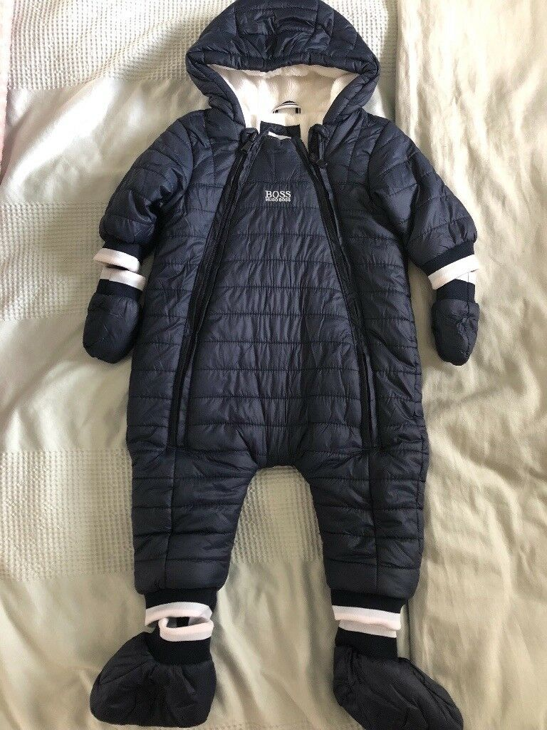 6d9bab5d4686 Genuine Baby Boy BOSS Snowsuit 3-6 Months (baby clothes).