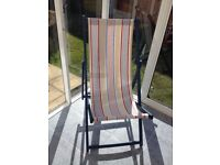 Deck Chairs 1 Pink 1 Blue Vintage repainted and covered £25 each