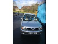 Nissan Micra, silver,3 doors,64500miles, 2000 ,manual ,ideal first car, good to be druven home today