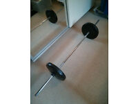 Weight bar and 2x weight discs of 10 Kg each