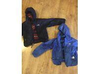 Kids North Face Moondoggy Reversible Down Jacket - Dark Blue