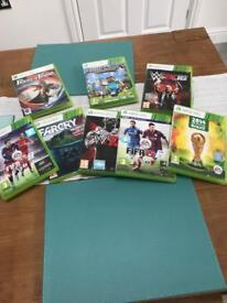 Set of 8 XBox 360 games