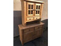 Ex-display** solid oak kitchen dresser