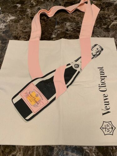 VEUVE CLICQUOT Ponsardin Champagne Limited Edition ROSE Cotton Shopping Tote Bag