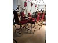 Christmas dining table & 6 chairs - very festive!!