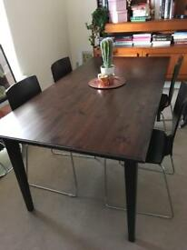 Ikea dining table & chairs x 4