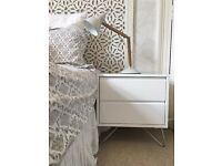 White MADE Bedside Tables X 2
