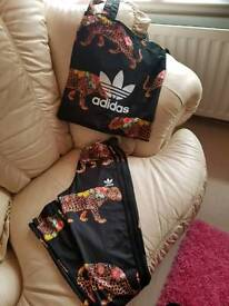 adidas trousers and matching bag