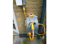 2in1 Complete Enclosed Reel + Hose 25m BRAND NEW BOXED UNOPENED HOZELOCK WALL MOUNTED HOSE PIPE KIT