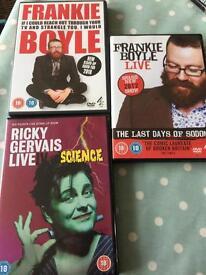 Ricky gervais / Frankie Boyle comedy DVDs